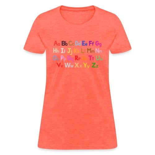 alphabet 2 - Women's T-Shirt