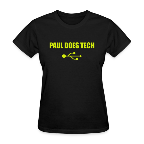 Paul Does Tech Yellow Logo With USB (MERCH) - Women's T-Shirt
