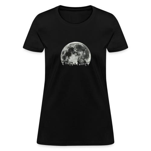 Scary Halloween moon - Women's T-Shirt