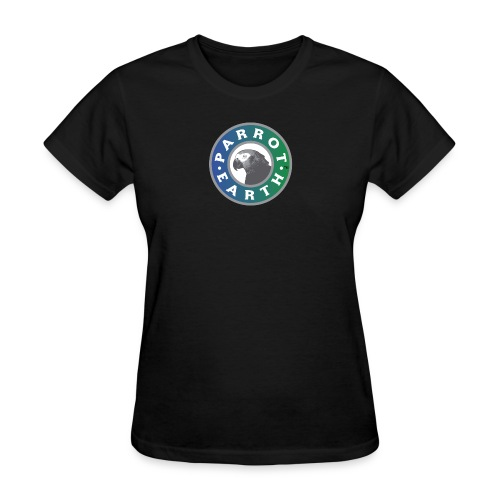 ParrotEarth Logo1 gradientTM png - Women's T-Shirt