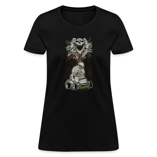 Lawnmower Skull Tree - Women's T-Shirt
