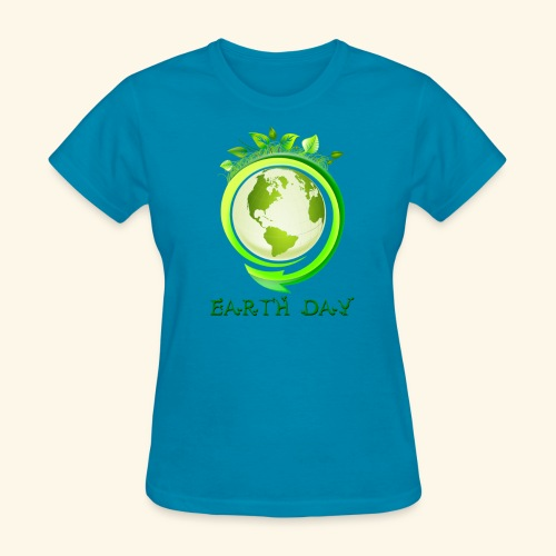 Happy Earth day - 2 - Women's T-Shirt