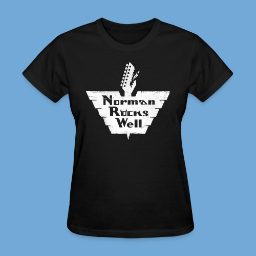 Norman Rocks Well - distressed - in white - Women's T-Shirt