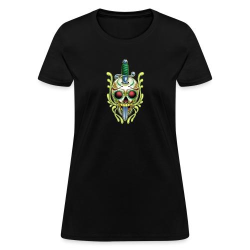 DoD Skull w/Sword by RollinLow - Women's T-Shirt