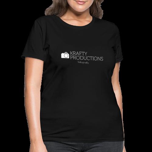 White Krafty Productions Logo - Women's T-Shirt