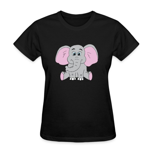 Cute Baby Elephant - Women's T-Shirt