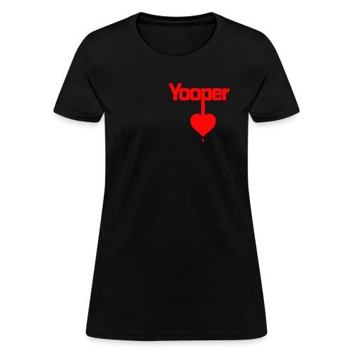 yooper heart [thick] - Women's T-Shirt