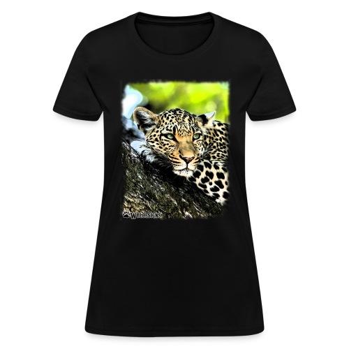 Leopard On A Tree - Women's T-Shirt