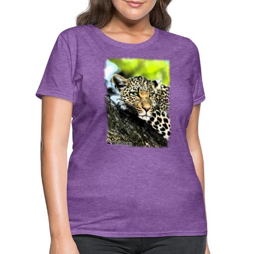 Leopard On A Tree - Women's T-Shirt