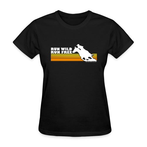 Vintage Run Wild, Run Free - Wild Cactus Design - Women's T-Shirt