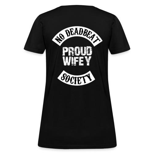PROUD WIFEY 5 png - Women's T-Shirt