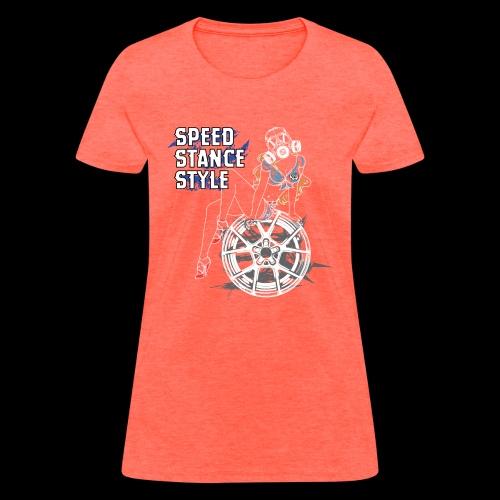Gas Mask Girl Color - Women's T-Shirt