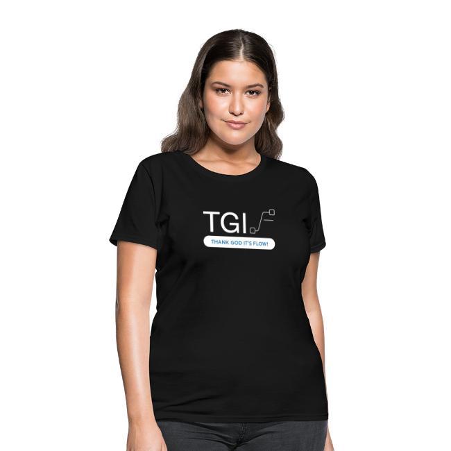 TGIF White on Black