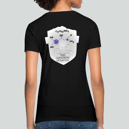 THE CANYONING MOLECULE-on dark back-2 sided - Women's T-Shirt