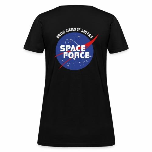 Retro Logo   Space Force T-Shirt - Women's T-Shirt