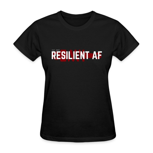 RESILIENT WHITE with red - Women's T-Shirt