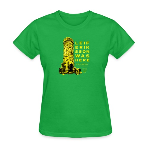 Leif Eriksson Was Here Double-Sided T-Shirt - Women's T-Shirt