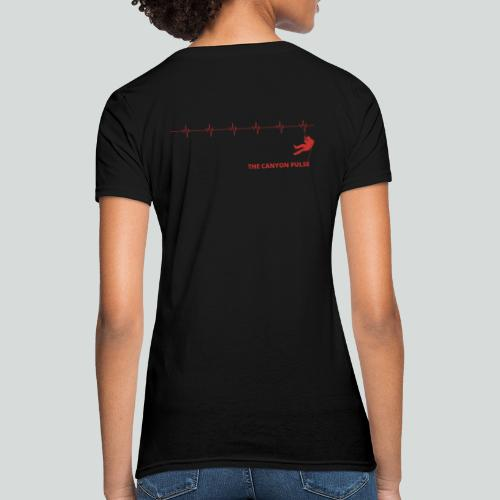 THE CANYON PULSE- on light front-2 sided - Women's T-Shirt