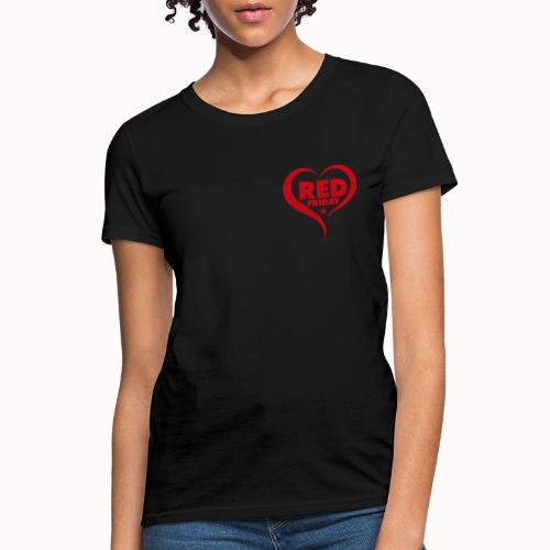 RED Friday - Hearts Behind The Heros - Women's T-Shirt