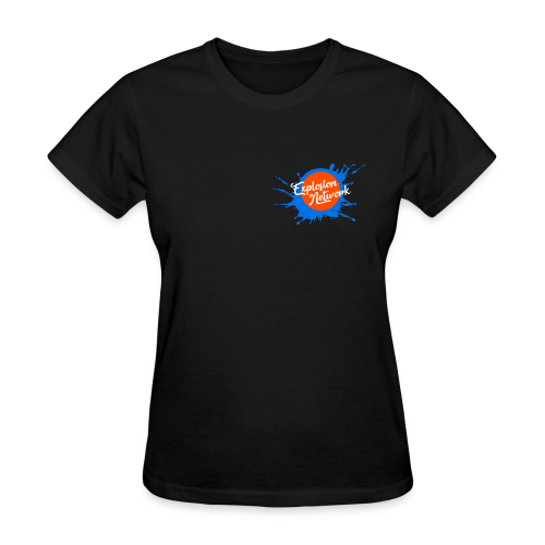 Black Explosion Network Pocket Tee w/ Characters - Women's T-Shirt