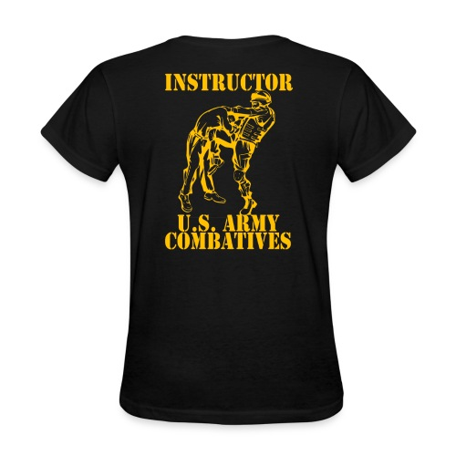 Army Combatives Knee Instructor Gold - Women's T-Shirt
