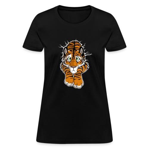 STUCK Tiger Orange (double-sided) - Women's T-Shirt
