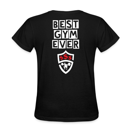 Best Gym Ever White and Red - Women's T-Shirt