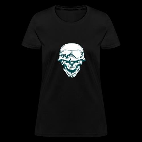 calabera militar - Women's T-Shirt