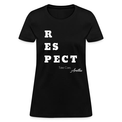 Respect Aretha - Women's T-Shirt