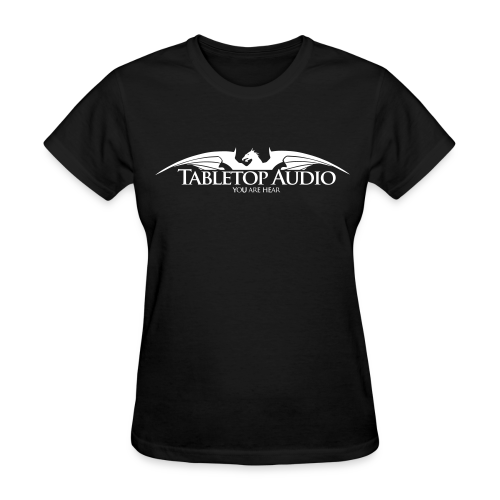 Tabletop Audio: Logo White - Women's T-Shirt