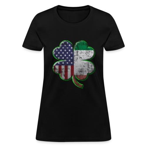 Irish American Shamrock Flags - Women's T-Shirt