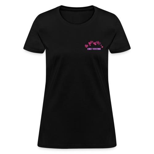 emily whiting snapchat heart filter - Women's T-Shirt