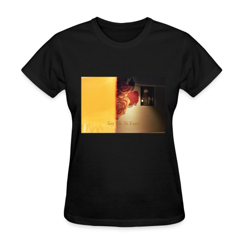 Flower Mural Say No To Love Film Photography - Women's T-Shirt