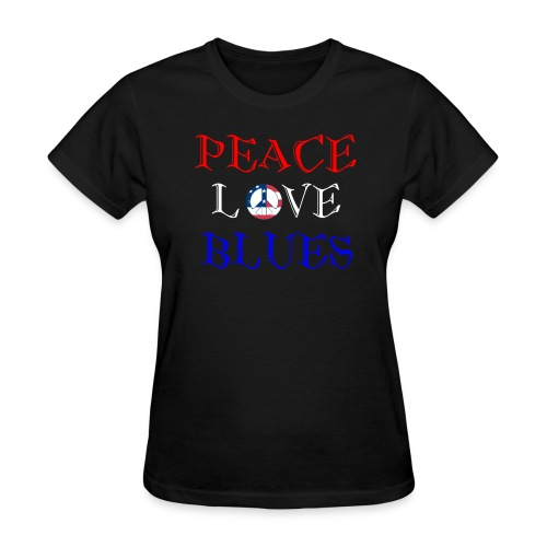 Peace, Love and Blues - Women's T-Shirt