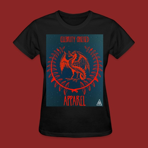 Flaming Red Dragon - Women's T-Shirt