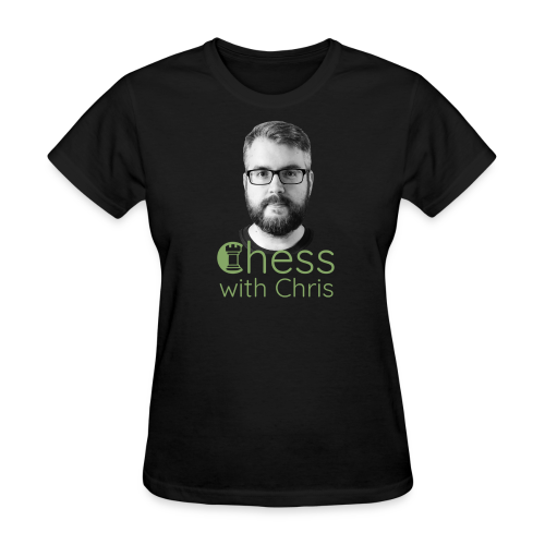 Chess with Chris Face and Logo - Women's T-Shirt