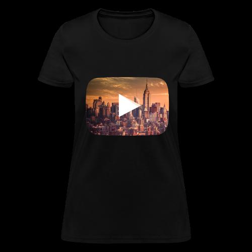 Night Youtube symbol - Women's T-Shirt