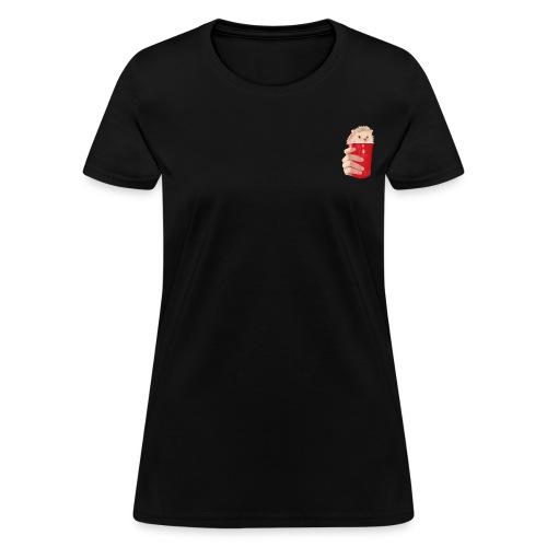 hedgehog drink - Women's T-Shirt