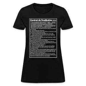 Contrat de l'institutrice 1923 - T-shirt pour femmes