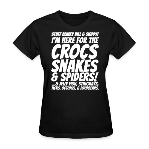 Crocks snakes and spiders shirt - Women's T-Shirt