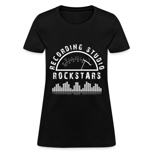 Recording Studio Rockstars - White Logo - Women's T-Shirt