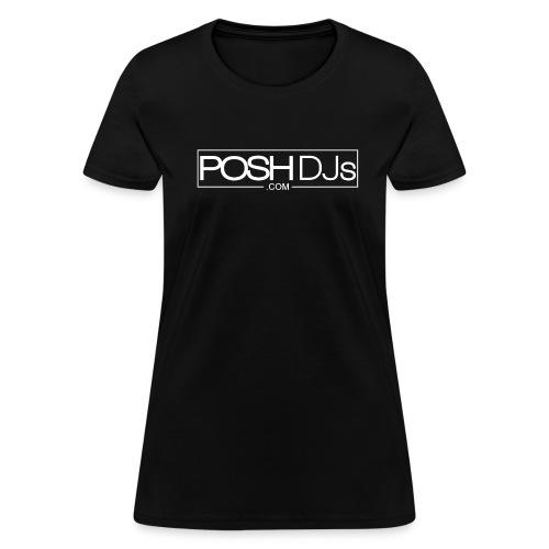 POSH DJs White Logo - Women's T-Shirt