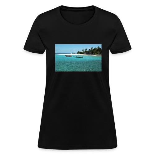 clear water of the beach - Women's T-Shirt