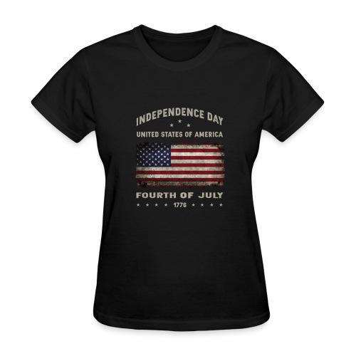 happy 4th of july - funny independence day t-shirt - Women's T-Shirt