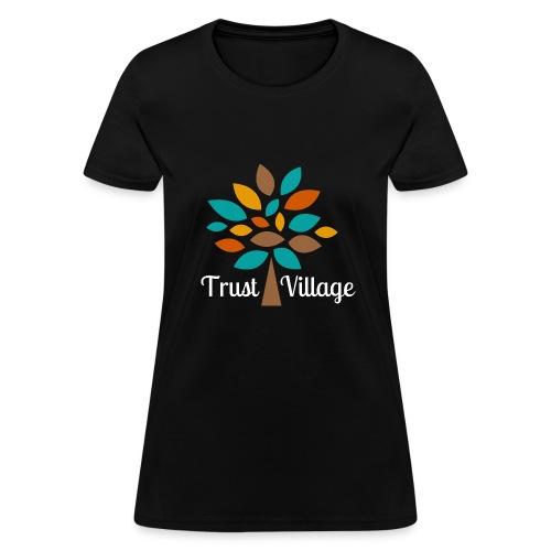 Official Trust Village Apparel (white wording) - Women's T-Shirt