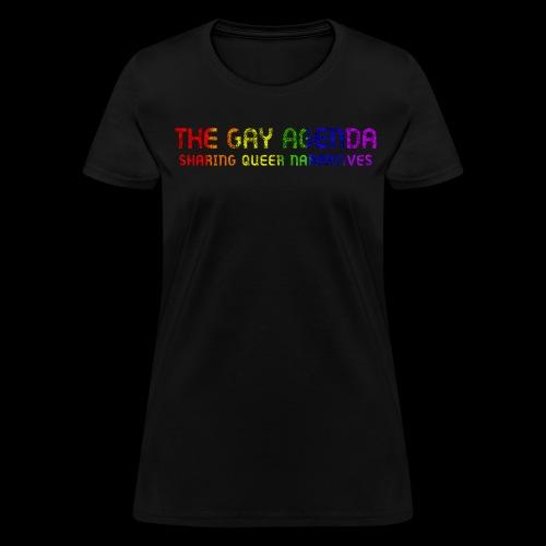 The Gay Agenda - Rainbow Paint Logo - Women's T-Shirt