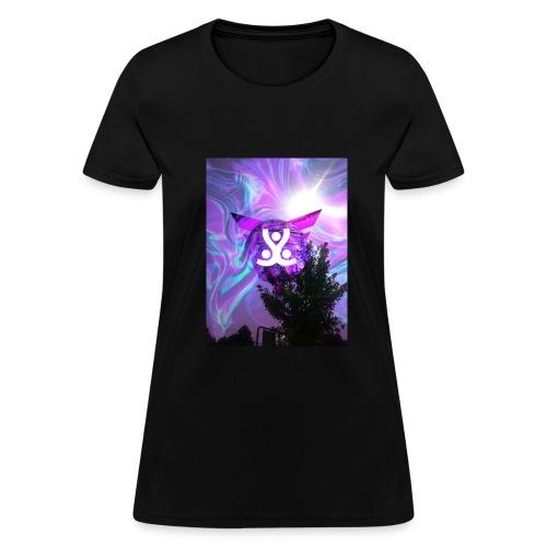 Chill purple/black hippie desighn - Women's T-Shirt