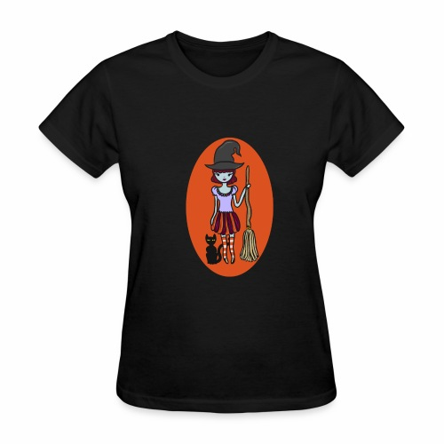 Gigi the good witch (orange oval background) - Women's T-Shirt