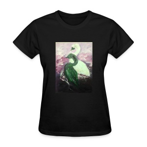 Black and White Swans - Women's T-Shirt