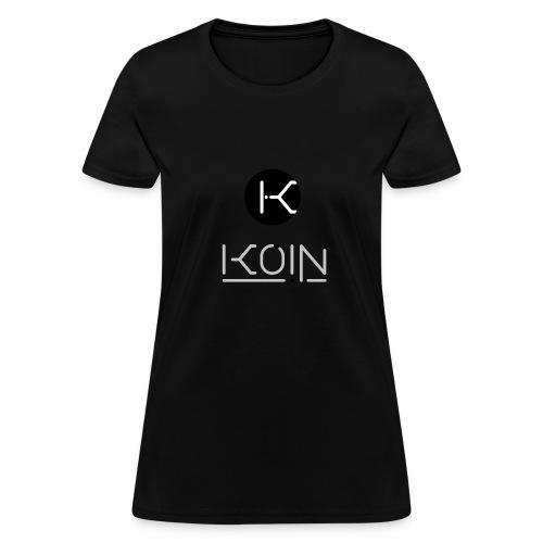 KOIN LOGO GRAYSCALE TRANSPARENT - Women's T-Shirt